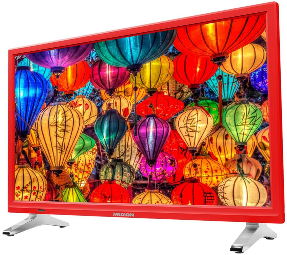 Bild 4 von Medion Life P12501 Full HD LED 54,6 cm (21,5 Zoll) inklusive DVD Player, Triple Tuner, Rot