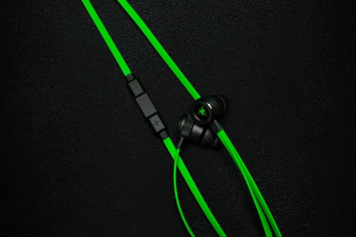 Bild 5 von Razer RZ04-02090100-R3G1, Verkabelt, im Ohr, Binaural, Im Ohr, 20 - 20000 Hz, Schwarz, Grün
