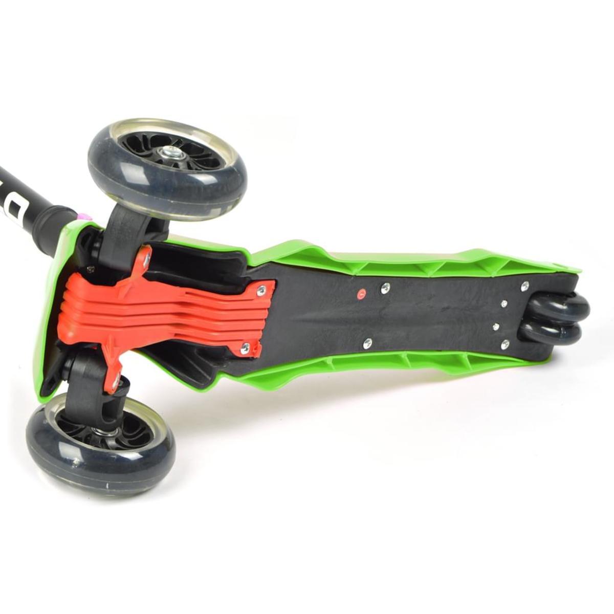 Bild 4 von Apollo Scooter - Candy Racer LED - Grün - Kinderscooter ab 3 Jahren, faltbarer Kickboard-Scooter mit  LED Leuchtrollen