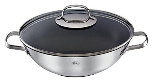 Rösle Gasgrill Porta : Rösle 13166 wok mit ablage 28 cm dialog platinum plus von real