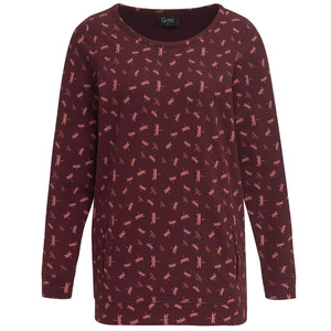 Damen Sweatshirt mit Allover-Print