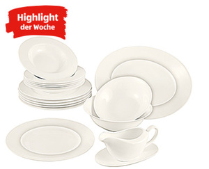 CROFTON®  Chef's Collection Tafelservice Bone China, 17-tlg.