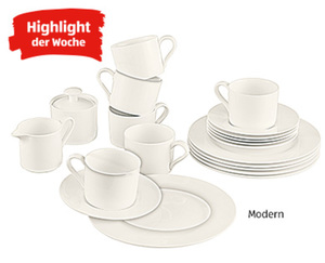 CROFTON®  Chef's Collection Kaffeeservice Bone China, 20-tlg.