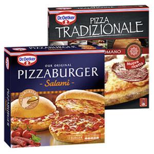 Dr. Oetker Pizza Tradizionale oder Pizza Burger gefroren, jede 370-g-Packung und weitere Sorten