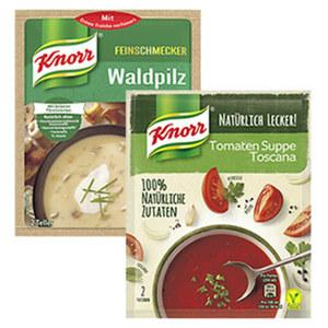 Knorr Feinschmecker Suppen oder Natürlich Lecker Suppe versch. Sorten, jeder Beutel