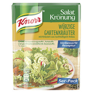 Knorr Salat Krönung trocken versch. Sorten, jede 5er = 50-g-Packung