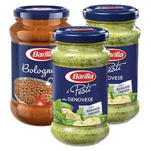 Barilla Pesto, Pesto Rustico oder Ricetta Saucen versch. Sorten, 400/175/190-g-Glas