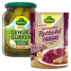 Kühne Gewürzgurken oder Kühne Rotkohl, Sauerkraut jedes 720-ml-Glas/jeder 400-g-Beutel/360 g Abtropfgewicht