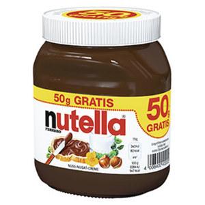 nutella Nuss-Nougat-Creme jedes 450-g + 50-g gratis = 500-g-Bonusglas