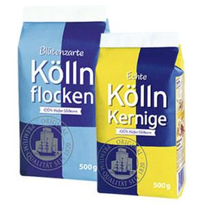 Blütenzarte Köllnflocken oder Echte Kölln Kernige 100% Hafer-Vollkorn jeder 500-g-Beutel