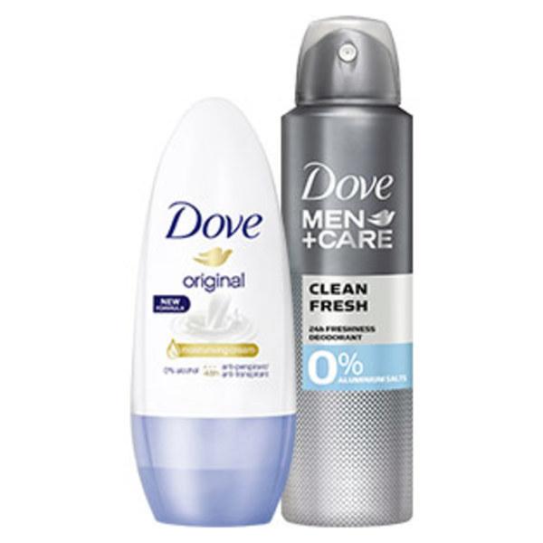 Dove Deo Spray oder Roll on versch. Sorten, jede 150-ml-Dose / jeder 50-ml-Roll on