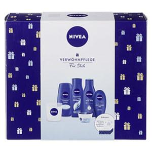 Nivea Geschenkset mit Duftkerze Dusche, Bodylotion, Shampoo,Handcreme, Creme und Kerze Je Set