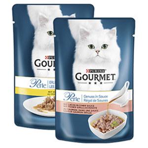 Gourmet Perle Katzen-Nassnahrung versch. Sorten, jeder 85-g-Frischebeutel