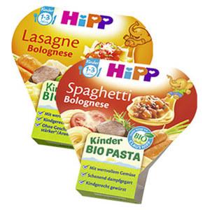 Hipp Kinder Pasta versch. Sorten, jede 250-g-Schale