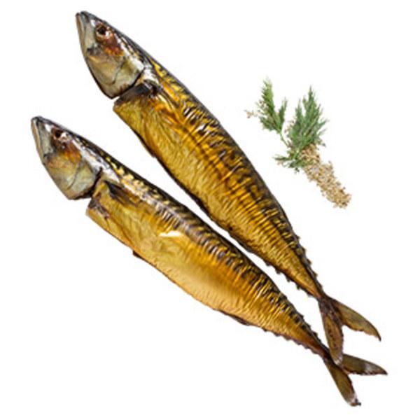 Räucherfischspezialität: Makrele gold-gelb, aus Wildfang, Nordostatlantik,   je 100 g