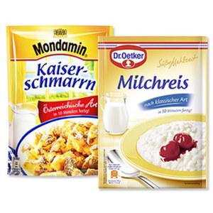 Dr. Oetker Süße Mahlzeit oder Mondamin Süße Gerichte versch. Sorten, jeder Beutel