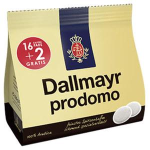 Dallmayr Prodomo oder Crema d´Oro Kaffeepads 16er + 2 gratis versch. Sorten, jede 18er = 126-g-Promotion-Packung
