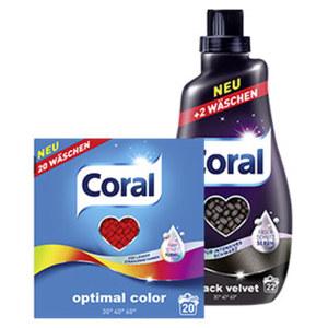 Coral Fein und Vollwaschmittel 20/22 Waschladungen, versch. Sorten, jede Flasche/Packung