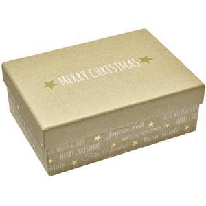 IDEENWELT 5er Set Geschenkboxen natur/gold