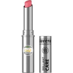 lavera Beautiful Lips Brilliant Care Lipstick Q10 02 Strawberry Pink