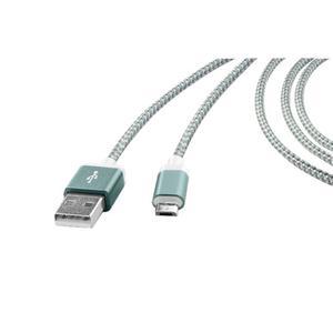 IDEENWELT Micro-USB Lade- & Datenkabel grün