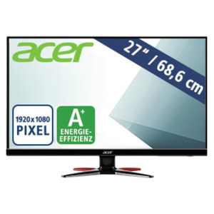 LED-Monitor GF276 Abmipx · Schnelle Reaktionszeit 1 ms · Zero Frame Gaming-Design · VGA, HDMI, DP, Audio Out · Energieeffiziensklasse A+ (Spektrum A+++ bis D)