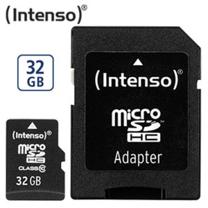 microSDHC-Karte · mit beiligendem Adapter verwendbar als SDHC-Karte · Class 10