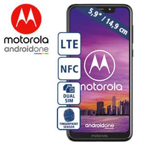 Smartphone One · HD+-Display · 3 Kameras (8 MP / 13 + 2 MP) · 4 GB RAM, 64 GB Speicher · microSD™-Slot bis zu 256 GB · nanoSIM · Android™ 8.1