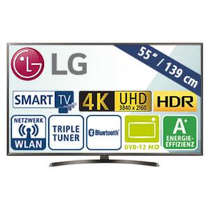"55""-Ultra-HD-LED-TV 55UK6400 Magic-Remote-Ready, TV-Aufnahme über USB, H.265, Quad-Core, 4K Active HDR (HDR10 Pro, HLG), intelligente Sprachsteuerung möglich, 3 HDMI-/2-USB-Anschlüsse, CI+, Stand-"