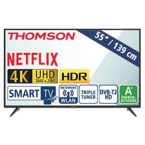 "55""-Ultra-HD-LED-TV 55UD6306 HbbTV, H.265, HDR, Dual-Core, 3 HDMI-/2 USB-Anschlüsse, CI+, Stand-by: 0,26 Watt, Betrieb: 86 Watt, Maße: H 73,0 x B 124,2 x T 7,8 cm, Energie-Effizienz A+ (Spektrum A+"