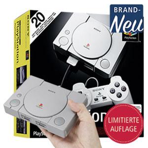 PlayStation Classic Inkl. 2 Kabel-Controller und  20 der besten Playstation Titel vorinstalliert