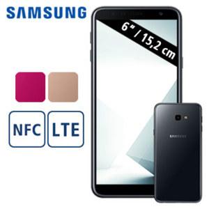 Smartphone Galaxy J4+ · HD+ Display · 2 Kameras (5 MP/13 MP) · 2-GB-RAM, 32-GB-Speicher · microSD™-Slot bis zu 512 GB · nanoSIM · Android™ 8.1