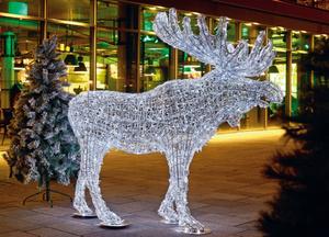 LED Acryl Elch  190 cm lang