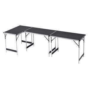 Kühnel Mehrzwecktisch, 3-tlg. - Maße pro Tisch: ca. 100 x 94 x 60 cm - Alu-Stahl-Gestell