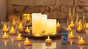 LED-Kerzen-Set oder -Teelichter
