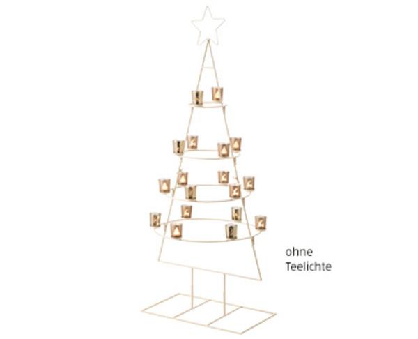 casa deco weihnachtsbaum aus metall von aldi s d ansehen. Black Bedroom Furniture Sets. Home Design Ideas