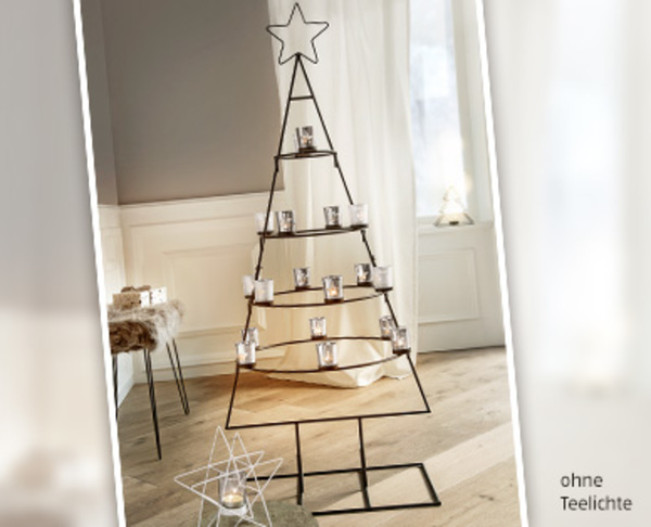casa deco weihnachtsbaum aus metall von aldi s d ansehen. Black Bedroom Furniture Sets. Home Design Ideas