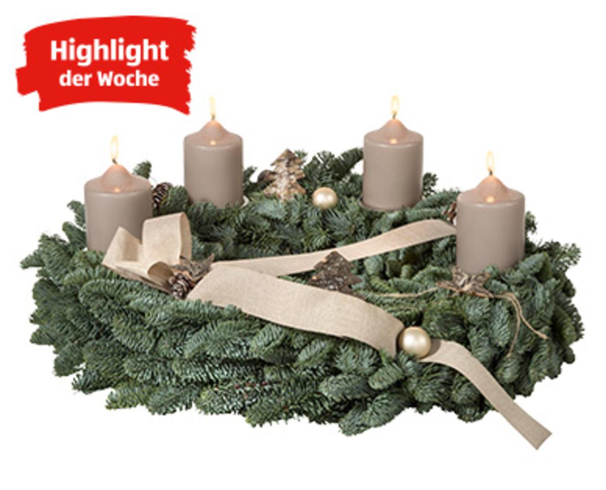 gardenline adventskranz oder schiffchen klein von aldi. Black Bedroom Furniture Sets. Home Design Ideas