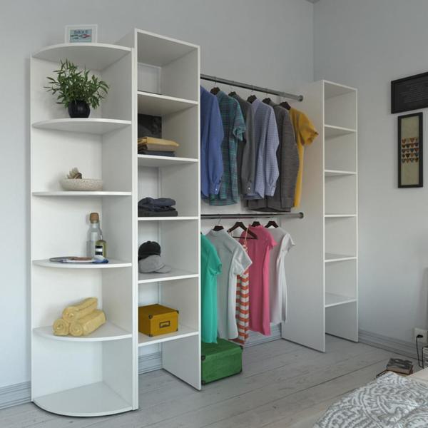 vicco kleiderschrank offen begehbar regal kleiderst nder schrank wei garderobe von real ansehen