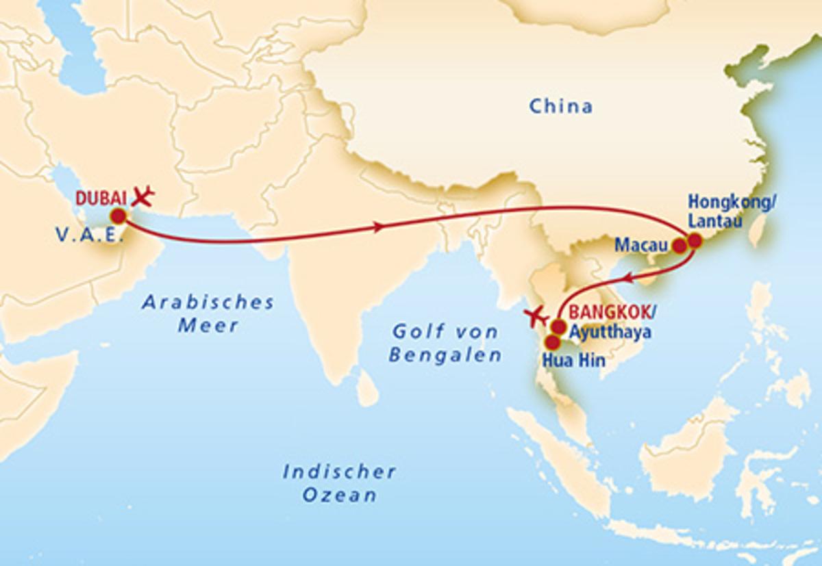Bild 4 von Dubai, Hongkong, Macau & Thailand Rundreise & Bade  Metropolen der Superlative & Meeresrauschen