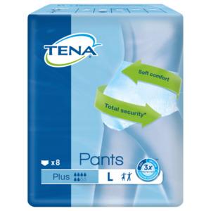 Tena Pants Plus Inkontinenz-Hosen für mittlere bis starke Blasenschwäche Gr. L 8 Stück