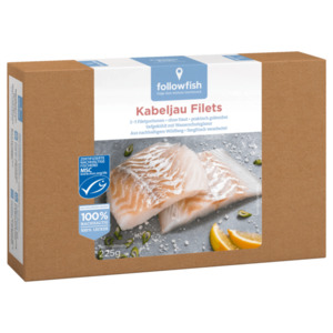 Followfish MSC Kabeljau Filets 225g