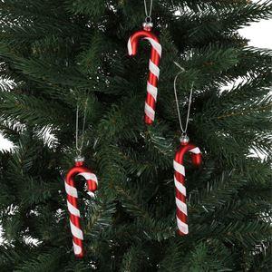 Weihnachtsbaum-Anhänger Zuckerstangen 3er-Set