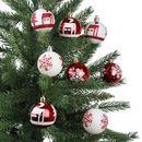 Bild 1 von Weihnachtsbaumkugeln DIA 8cm 16er-Set Rot/Weiß