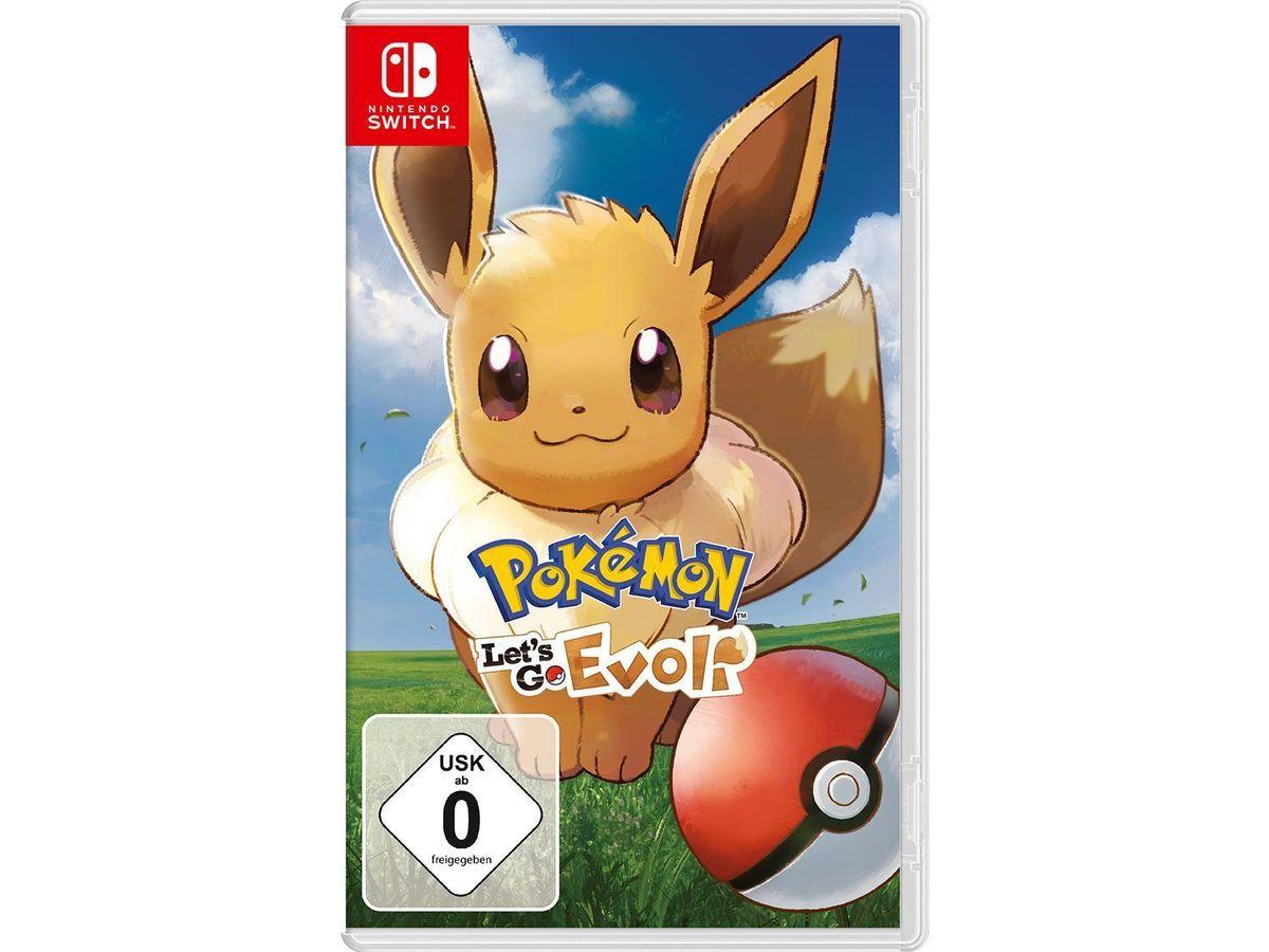 Bild 2 von Nintendo Switch Konsole Neon-Blau/Neon-Rot + Pokémon: Let´s Go, Evoli!