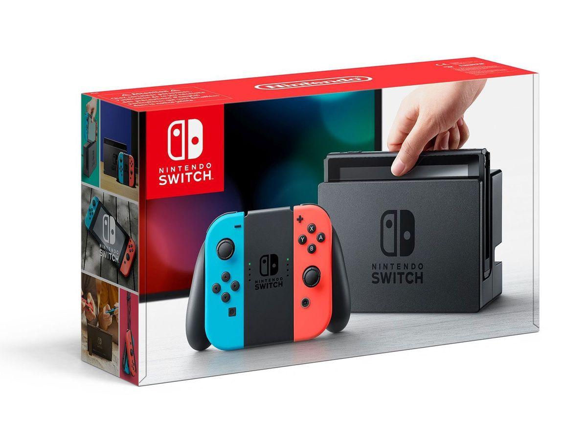 Bild 3 von Nintendo Switch Konsole Neon-Blau/Neon-Rot + Pokémon: Let´s Go, Evoli!