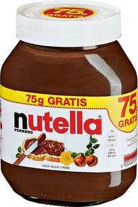 Nutella 750g + 75g Glas