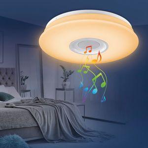 EASYmaxx LED-Deckenleuchte 18W weiß mit Bluetooth-Lautsprecher & Fernbedienung