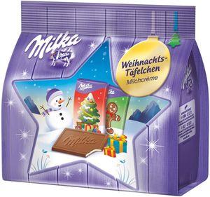 Milka Weihnachtstäfelchen Milchcrème 150g