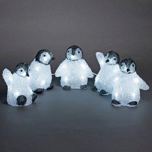 Konstsmide LED Acryl Babypinguine 5 - er Set, 40 Dioden